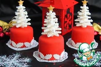 Рецепт: Новогодние пирожные Ёлочки