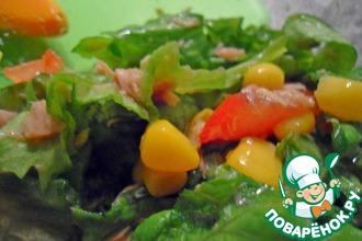Рецепт: Летний салат с тунцом