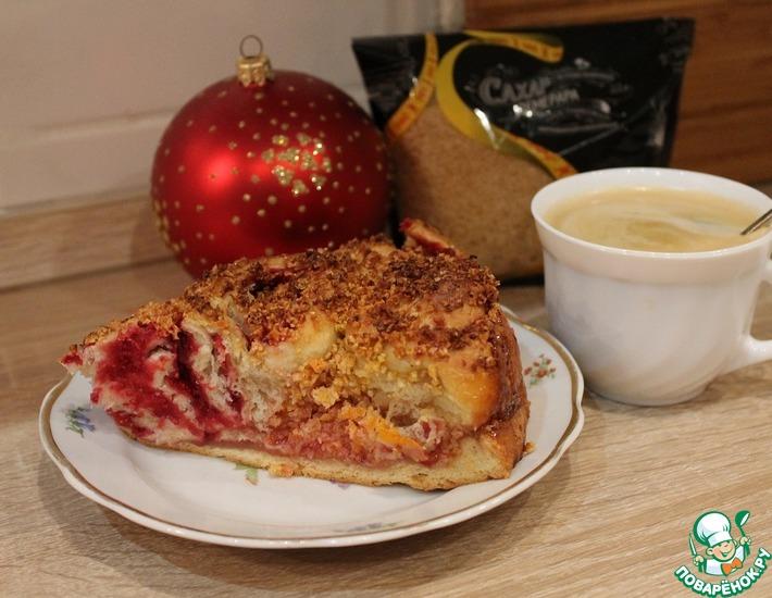 Рецепт: Пирог с клюквой и цедрой апельсина