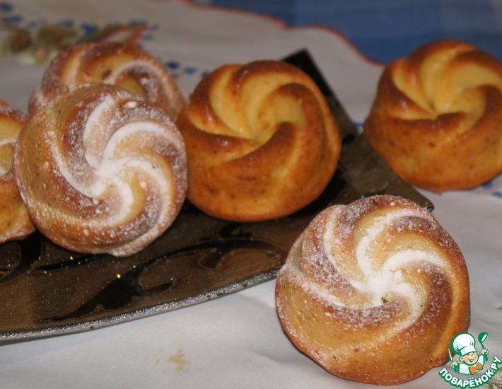 Рецепт: Апельсиновые кексы с цукатами