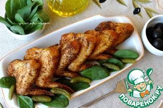 Рецепт: Куриные крылышки-гриль по-испански