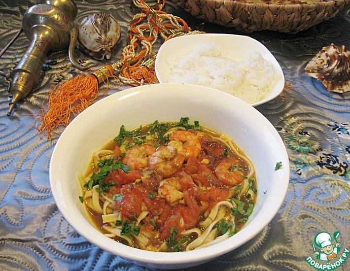 Рецепт: Лакса с креветками