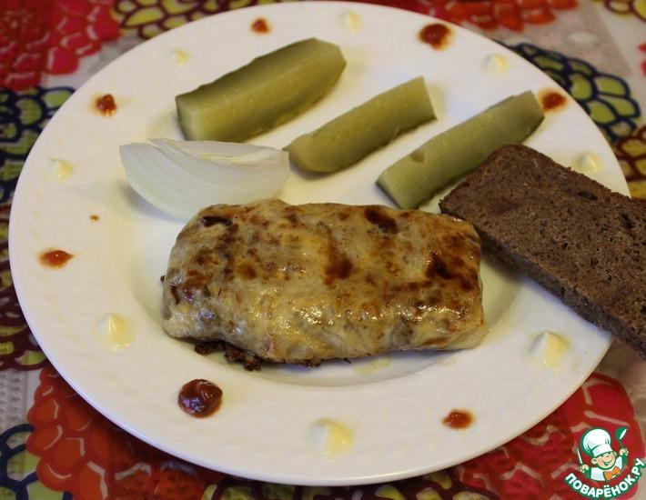 Рецепт: Рисовые лепешки с фаршем и сыром