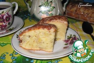 Рецепт: Банановый пирог со сметанным кремом
