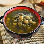 Контрастный суп с чечевицей и нутом