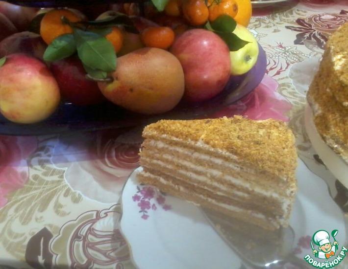 Рецепт: Шифоновый торт Медовик
