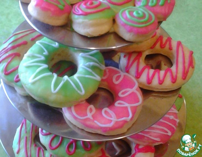 Рецепт: Пончики а-ля Донатсы в духовке
