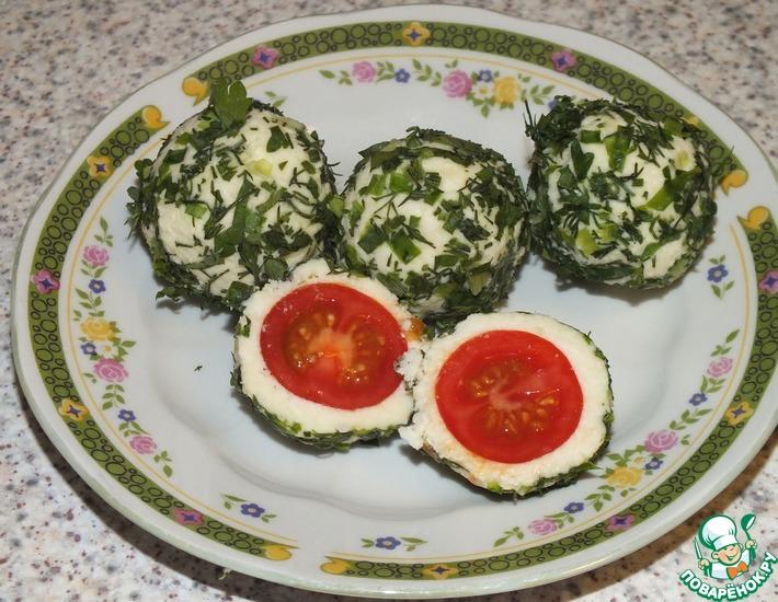 Рецепт: Сырная закуска с помидорами черри