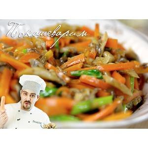 Стир-фрай из вешенок и моркови