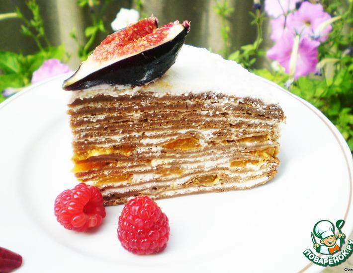Рецепт: Шоколадный блинный торт Хочу, Хочу!