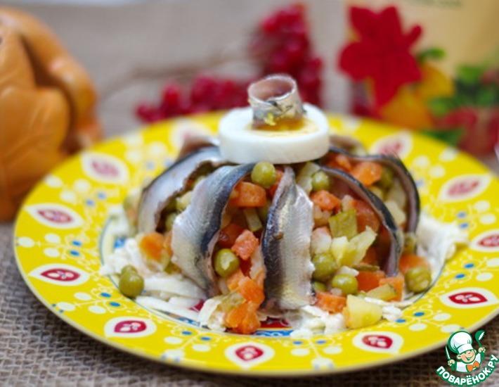 Рецепт: Салат с килькой