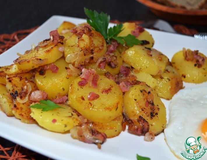 Рецепт: Жареный картофель в немецком стиле