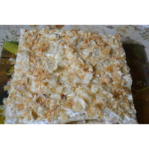 Закусочный торт с грибами, курицей и ветчиной