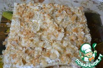 Рецепт: Закусочный торт с грибами, курицей и ветчиной