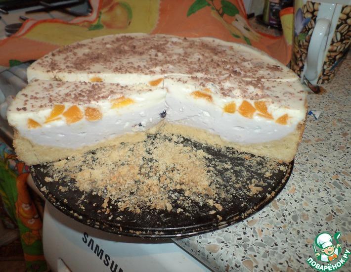 Рецепт: Торт Нежный творожок