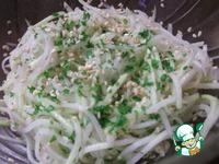 Салат из кольраби с кунжутом и имбирём ингредиенты