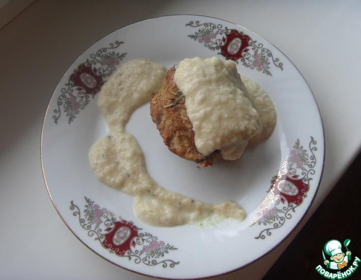 Рецепт: Мясной хлеб с луковым соусом
