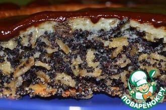 Рецепт: Хрустящий маковый пирог с овсяными хлопьями