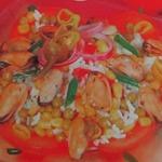 Салат с мидиями по-китайски