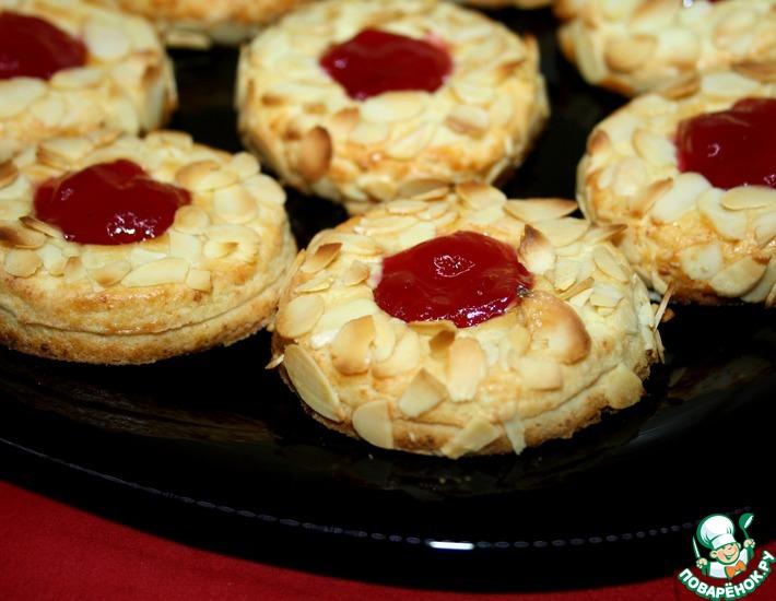 Рецепт: Венское творожное печенье