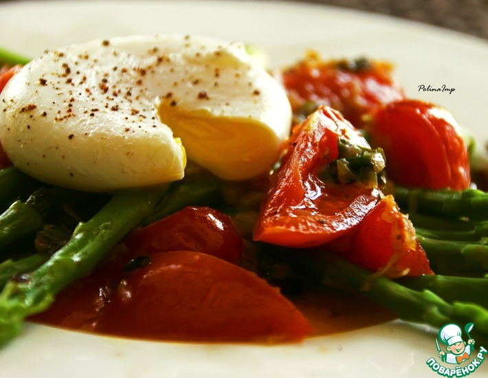 Рецепт: Тёплый салат со спаржей