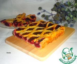 Рецепт Пирог с вишнёво-смородиновым пудингом