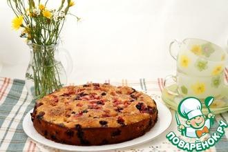 Рецепт: Летний пирог с карамельной корочкой