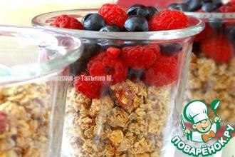 Рецепт: Домашняя гранола с ягодами