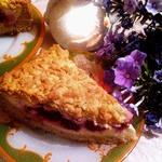 Песочный пирог Творожно-малиновое удовольствие