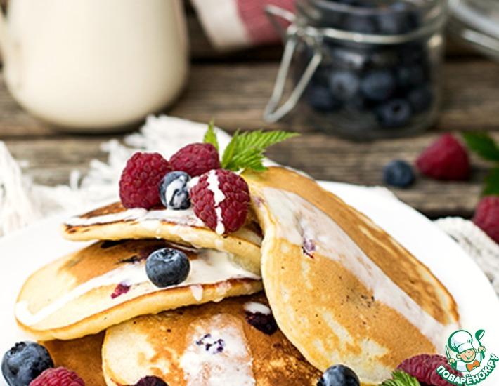 Рецепт: Панкейки с ягодами на старинный манер