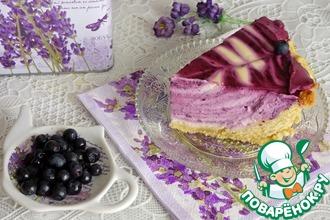 Рецепт: Творожный торт Черничное наслаждение