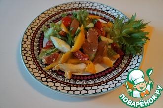 Рецепт: Легкий салат с карпаччо из курицы