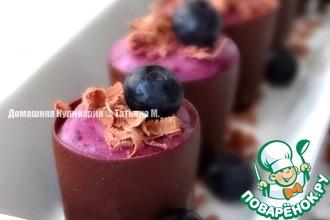 Рецепт: Черничный мини-десерт