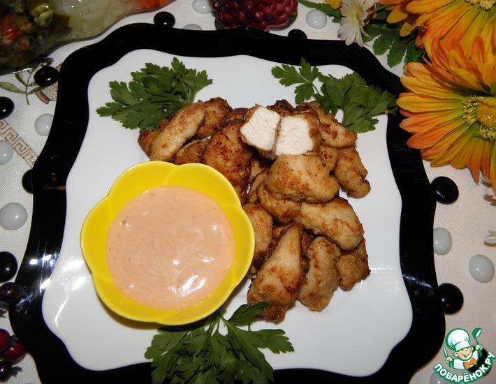 Рецепт: Хрустящая курица