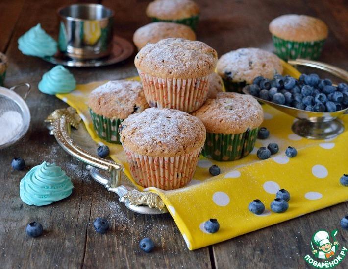 Рецепт: Пряные кексы с голубикой