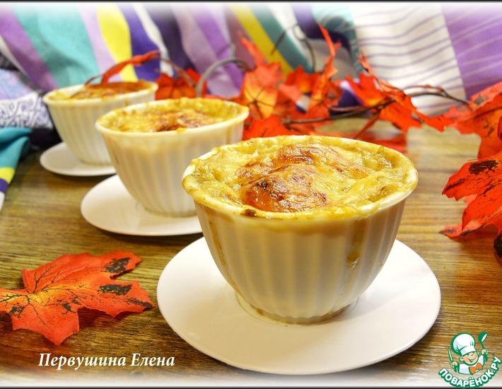Рецепт: Мини-жульены овсяные с картофелем и печенкой
