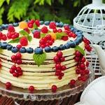 Летний торт с голубикой