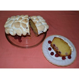 Лимонный пирог Малина под снегом