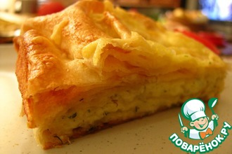 Рецепт: Быстрый пирог с сыром и зеленью