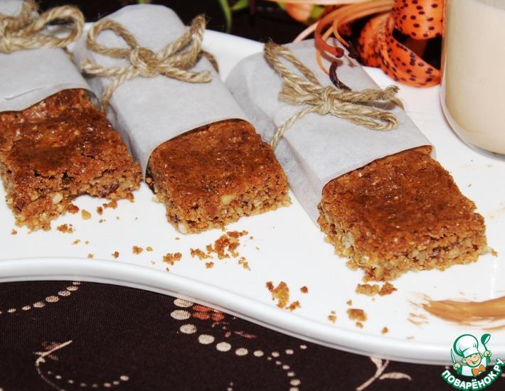 Рецепт: Батончики-мюсли из зерновых хлопьев