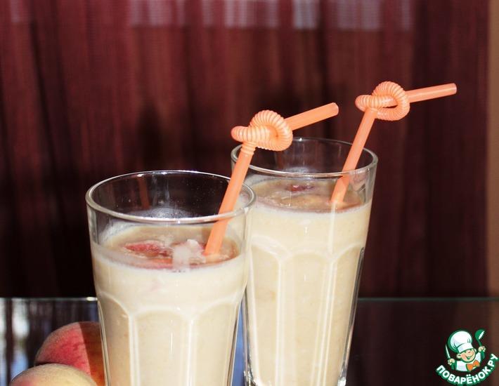 Рецепт: Персиково-рисовый смузи с кокосовой стружкой