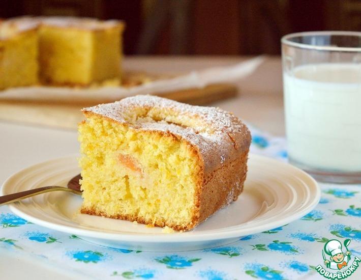 Рецепт: Тосканский кукурузный пирог с абрикосами