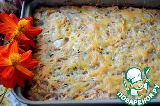 Рецепт: Запеканка рисовая с мясом и овощами