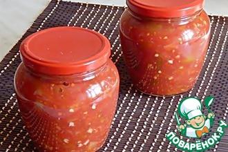 Рецепт: Томатный соус с перцем и чесноком