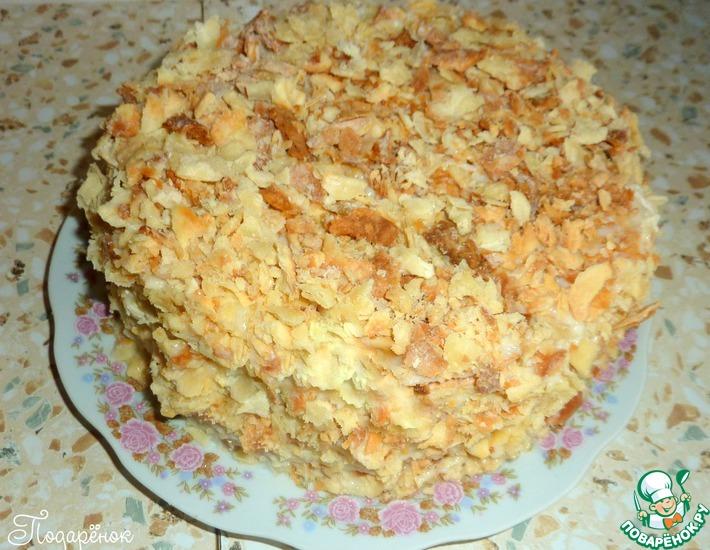 Рецепт: Старый классический торт Наполеон
