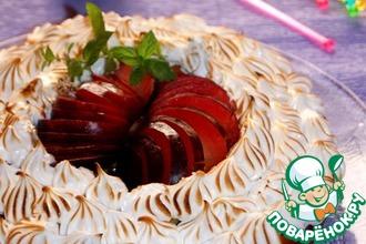 Рецепт: Сливочно-сливовый пирог