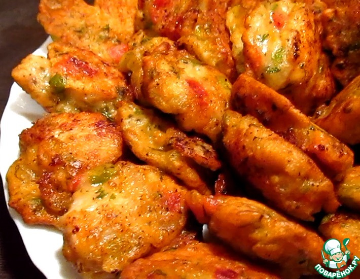 Рецепт: Мясо в овощном кляре