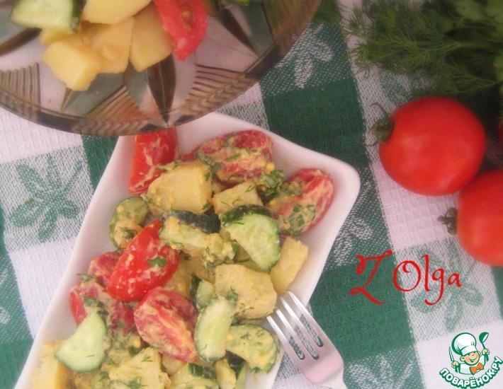 Рецепт: Овощной салат с заправкой по-швейцарски