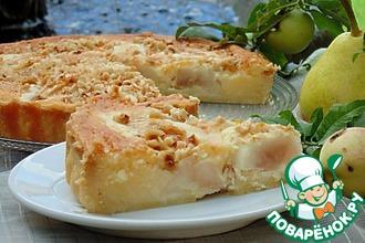 Рецепт: Итальянский грушевый пирог с фундуком