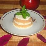 Яблочно-творожный десерт